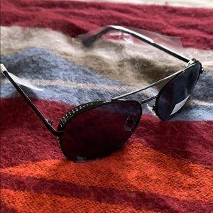 Joe's Jeans Black Aviator Sunglasses NWT